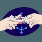 acrylic denture diagram